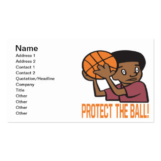 Proteja la bola tarjetas de visita