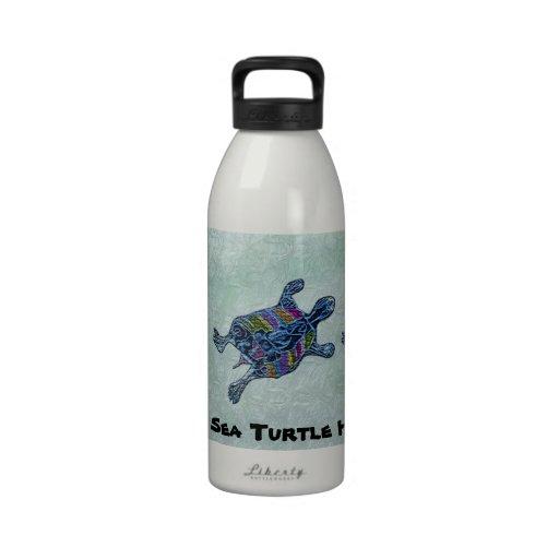 Proteja la botella de agua de los hábitats de la t