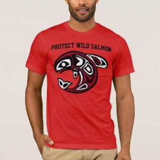 Proteja la camisa de color salmón salvaje
