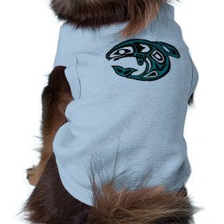 Proteja la camisa salvaje del mascota de los salmo playera sin mangas para perro