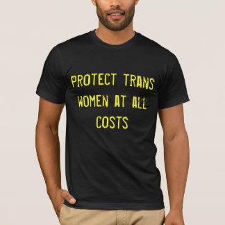Proteja la camiseta de las mujeres del transporte