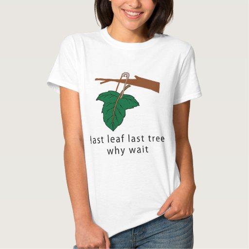 Proteja la camiseta de los árboles playeras
