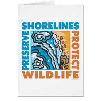 Proteja la costa tarjeta de felicitación