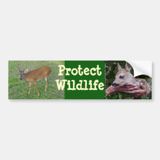 Proteja la fauna etiqueta de parachoque