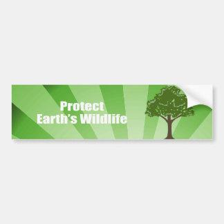 Proteja la fauna de la tierra pegatina de parachoque