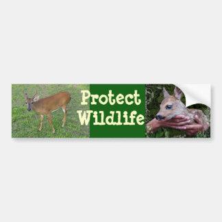 Proteja la fauna pegatina para auto