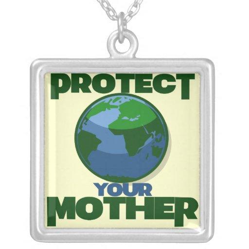 Proteja la madre tierra para el Día de la Tierra Colgante