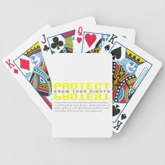 Proteja la protesta cartas de juego