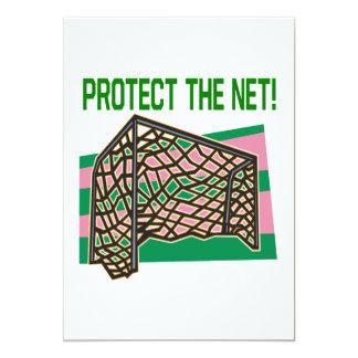 """Proteja la red invitación 5"""" x 7"""""""