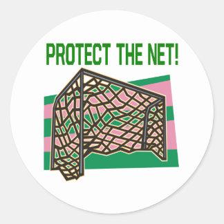 Proteja la red pegatina redonda
