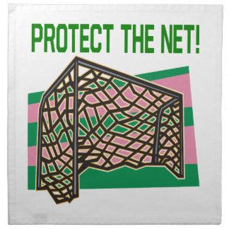 Proteja la red servilleta imprimida