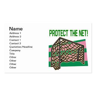 Proteja la red tarjetas de visita