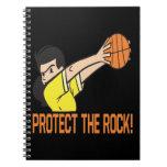 Proteja la roca cuadernos