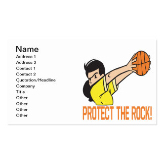 Proteja la roca tarjetas de visita