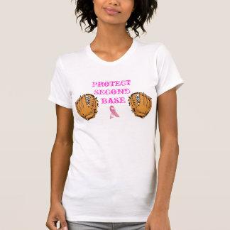 Proteja la segunda base camisetas