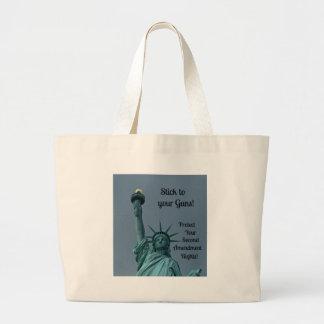 Proteja la segunda enmienda endereza… bolsa tela grande