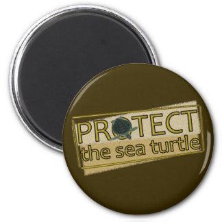 Proteja la tortuga de mar imán redondo 5 cm