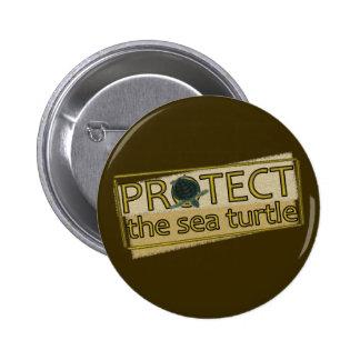 Proteja la tortuga de mar pins
