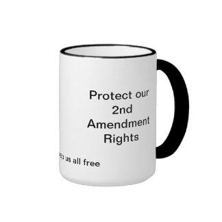 Proteja las nuestras 2das derechas de Amenment Taza De Dos Colores