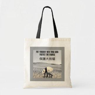 Proteja las pandas bolsas de mano