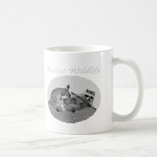 Proteja las tazas del mapache de la fauna