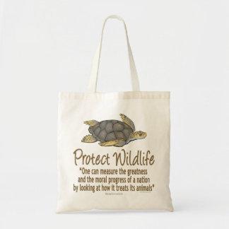 Proteja las tortugas de mar bolsa tela barata