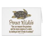 Proteja las tortugas de mar felicitación