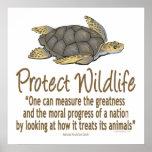 Proteja las tortugas de mar impresiones