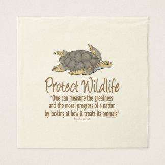 Proteja las tortugas de mar servilleta desechable
