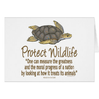 Proteja las tortugas de mar tarjeta de felicitación
