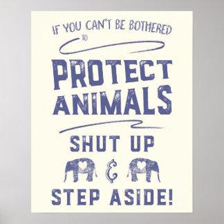Proteja los animales póster