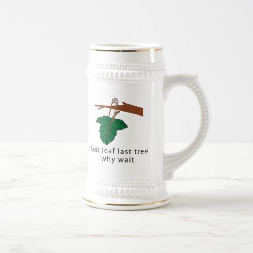 Proteja los árboles taza de café