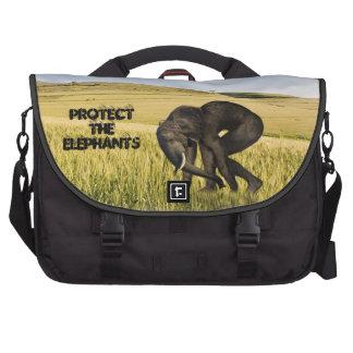 Proteja los elefantes bolsas de ordenador