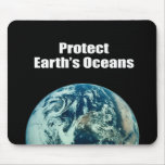 Proteja los océanos de la tierra tapete de ratón