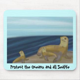 Proteja los océanos y el Sealife Tapetes De Ratón