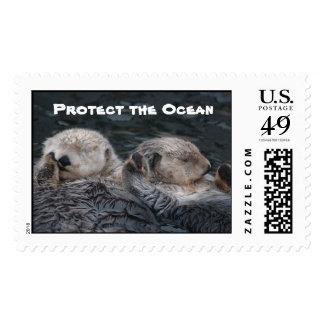 Proteja los sellos de la nutria del océano