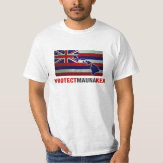 Proteja Mauna Kea - la bandera del estado de Remera