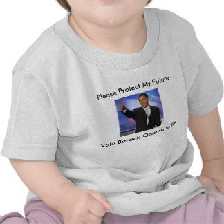 Proteja mi voto Obama 08 por favor Prot de Furtur Camiseta