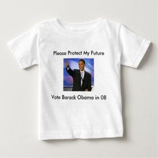 Proteja mi voto Obama 08, por favor Prot de Playeras