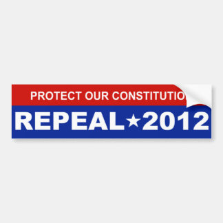 Proteja nuestra constitución etiqueta de parachoque