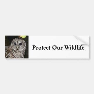 Proteja nuestra fauna - pegatina para el parachoqu etiqueta de parachoque