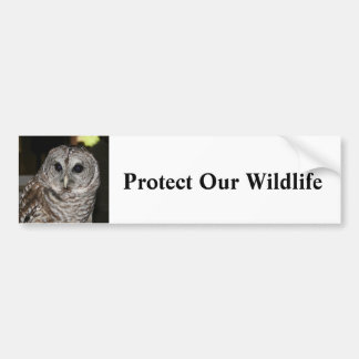 Proteja nuestra fauna - pegatina para el parachoqu pegatina para auto
