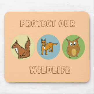 Proteja nuestra fauna alfombrilla de ratones