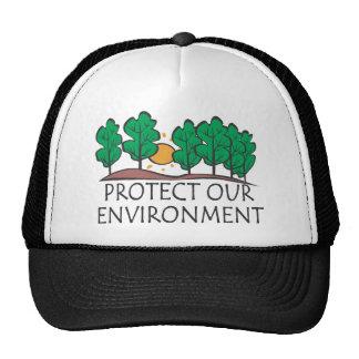 Proteja nuestro ambiente gorros bordados