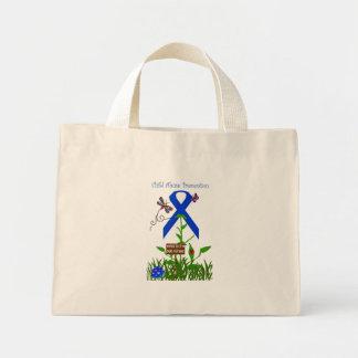 Proteja nuestro bolso futuro de la cinta azul bolsa tela pequeña