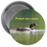Proteja nuestro botón de los bribones pin