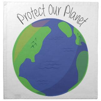 Proteja nuestro planeta servilletas de papel