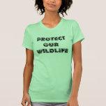 Proteja nuestro Wildlfe Camiseta