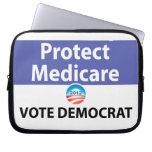 Proteja Seguro de enfermedad: Vote a Demócrata Funda Computadora