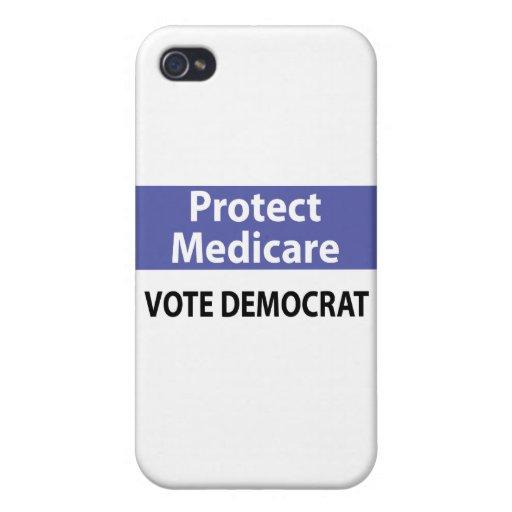 Proteja Seguro de enfermedad: Vote a Demócrata iPhone 4 Cárcasas